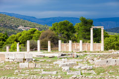 Sanctuary of Asclepios, Epidaurus. The Sanctuary Of Asklepios ruins at the Epidaurus in Greece. Epidaurus is a ancient city dedicated to the ancient Greek God of Royalty Free Stock Photos