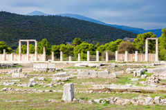 Sanctuary of Asclepios, Epidaurus. The Sanctuary Of Asklepios ruins at the Epidaurus in Greece. Epidaurus is a ancient city dedicated to the ancient Greek God of Stock Images