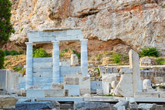 The Sanctuary of Asclepios, Greece. The Sanctuary of Asclepios (420 B.C.) near Acropolis, Greece Stock Photos