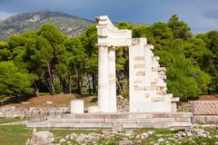 Sanctuary of Asclepios, Epidaurus. The Sanctuary Of Asklepios ruins at the Epidaurus in Greece. Epidaurus is a ancient city dedicated to the ancient Greek God of Royalty Free Stock Photo