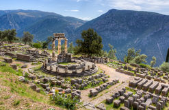 Sanctuary of Athena Pronaia, Delphi, Greece Royalty Free Stock Photos