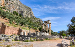 Sanctuary of Athena Pronaia, Delphi, Greece Stock Images