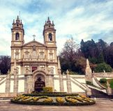 Sanctuary of Bom Jesus do Monte. Popular landmark and pilgrimage. Site in northern Portugal royalty free stock image