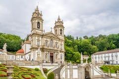 Sanctuary Bom Jesus do Monte in Tenoes near Braga in Portugal Royalty Free Stock Photography