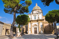 Sanctuary Church of Mater Domini. Mesagne. Puglia. Italy. Royalty Free Stock Photos