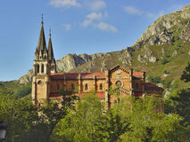 Sanctuary of Covadonga. Sanctuary in the mountains of Covadonga, Asturias, Spain Stock Photography