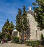 Sanctuary of the Dominus Flevit, Jerusalem. JERUSALEM, ISRAEL - JANUARY 5: The Sanctuary of the Dominus Flevit, Roman Catholic church on the Mount of Olives, Old Royalty Free Stock Photos
