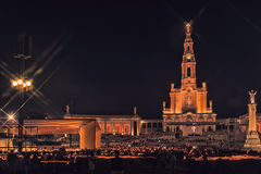 Sanctuary of Fatima, altar of the Catholic world. Night photograph of the Sanctuary of Fatima, altar of the catholic word.Portugal Stock Images