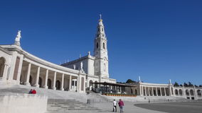Sanctuary of Fatima. Basilica of Our Lady of the Rosary stock footage