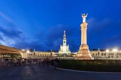 Sanctuary of Fatima. The Sanctuary of Fatima at the night, Fatima, Portugal Stock Photos
