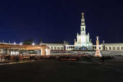 Sanctuary of Fatima. The Sanctuary of Fatima at the night, Fatima, Portugal Royalty Free Stock Photos