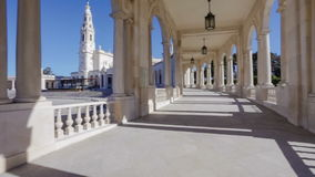 Sanctuary of Fatima. Panning of Basilica of Our Lady of the Rosary stock video