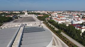 Sanctuary of Fatima, Portugal. From above stock video
