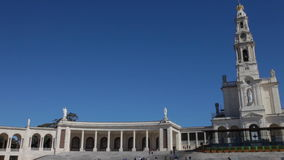 Sanctuary of Fatima, Portugal. Basilica of Our Lady of the Rosary stock video footage