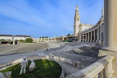 Sanctuary of Fatima, Portugal. The Sanctuary of Fatima, which is also referred to as the Basilica of Our Lady of Fatima, Portugal Stock Image