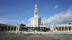 Sanctuary of Fatima timelapse stock video