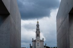 The Sanctuary of Fatima, which is also referred to as the Basilica of Our Lady of Fatima, Portugal. royalty free stock photo