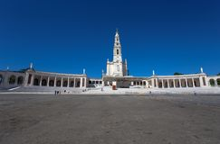 The Sanctuary of Fatima, which is also referred to as the Basilica of Lady Fatima, Portugal stock photo