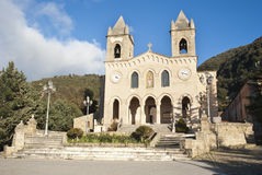 The Sanctuary of Gibilmanna. Sicily. The Sanctuary of Gibilmanna is a Christian shrine in the province of Palermo, Sicily, southern Italy.On the site existed a stock images
