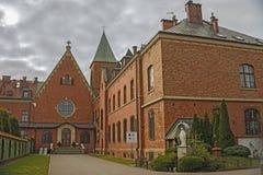 Sanctuary of God`s Mercy. In the urban area of Lagiewniki, in Krakow, Poland Royalty Free Stock Photo