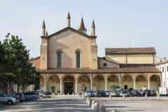 Sanctuary of Grazia over mincio. Stock Images