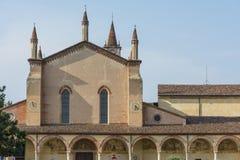 Sanctuary of Grazia over mincio. Stock Image