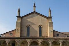 Sanctuary of Grazia over mincio. Royalty Free Stock Photography