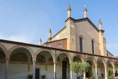 Sanctuary of Grazia over mincio. Stock Photography