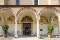 Sanctuary of Grazia over mincio. Royalty Free Stock Photo