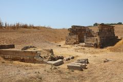 Sanctuary of Hera Matronly at Selinunte. Sicily. Temple of Hera Sanctuary of Hera Matronly at Selinunte. Sicily. Italy Royalty Free Stock Photography