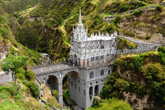 Sanctuary Las Lajas in Colombia stock images