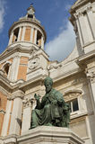 Sanctuary of Loreto statue of the pope 3 Stock Photos