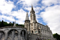Sanctuary of Lourdes, France Stock Images