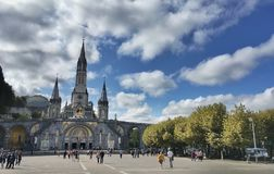 Sanctuary of Lourdes Royalty Free Stock Photos