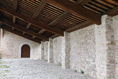 Sanctuary of Macereto, architectural details Royalty Free Stock Image