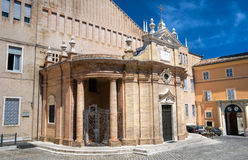 Sanctuary of Madonna della Misericordia. Macerata. Stock Images