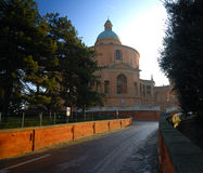 Sanctuary of the Madonna di San Luca. Sanctuary erected in 1711 in the Baroque style and sitting on top of the hill over viewing the city of Bologna Stock Image