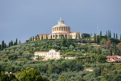 Sanctuary of Madonna of Lourdes, Verona, Italy. Royalty Free Stock Images