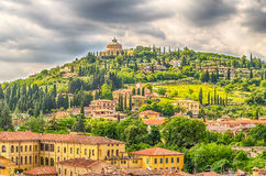 Sanctuary of the Madonna of Lourdes in Verona, Italy Stock Photography