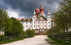 Sanctuary Madonna of Pietralba, South Tyrol, Italy Stock Images