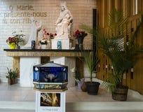 """Sanctuary Marie-Reine-des-CÅ""""urs stock images"""