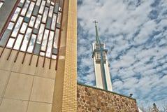 Sanctuary Marie-Reine-des-Cœurs. Catholic Church of Montreal Stock Photography