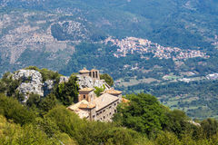 The sanctuary of Mentorella, Italy Royalty Free Stock Photography