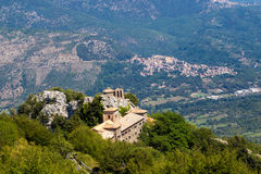 The sanctuary of Mentorella, Italy Stock Images