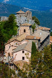Sanctuary of Mentorella, Lazio, Italy. Sanctuary of Mentorella, landmark, mountains  Lazio, Italy Royalty Free Stock Images