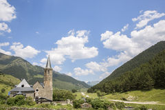 Sanctuary of Mongarri. Spanish pyrenees, Catalonia, Lleida, Spai Royalty Free Stock Photo