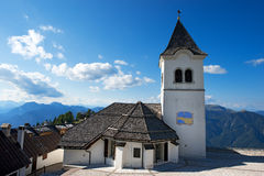 Sanctuary of Monte Lussari, Friuli Italy Stock Photos