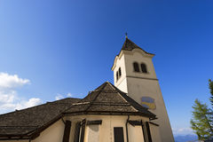 Sanctuary of Monte Lussari, Friuli Italy Royalty Free Stock Images