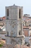 Sanctuary of Monte Sant'Angelo. Puglia. Italy. Perspective of the Sanctuary of Monte Sant'Angelo. Puglia. Italy royalty free stock photo