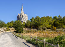 Sanctuary of Montserrat in Montferri, Tarragona, Catalonia. Sanctuary of Montserrat in Montferri Alt Camp, Tarragona province, Catalonia, Spain. By modernist stock images